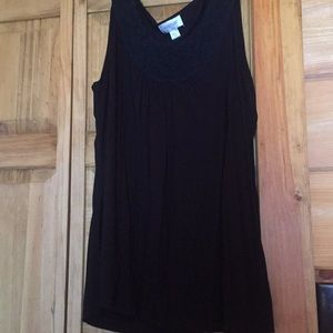 Black tank with Rosette look 18/20